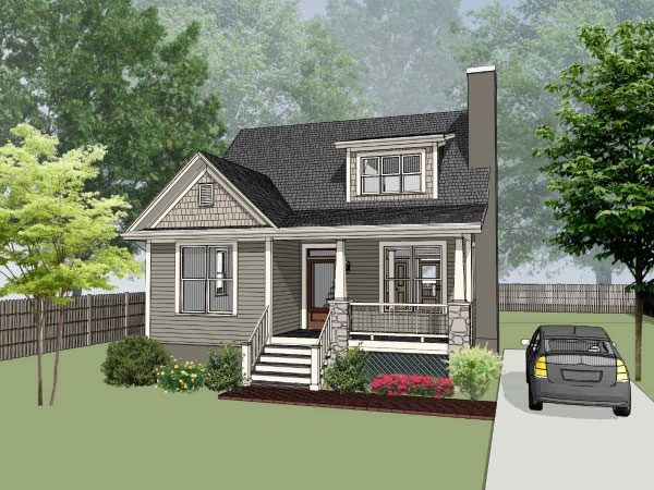Bungalow Style Home Design Plan: 16-213