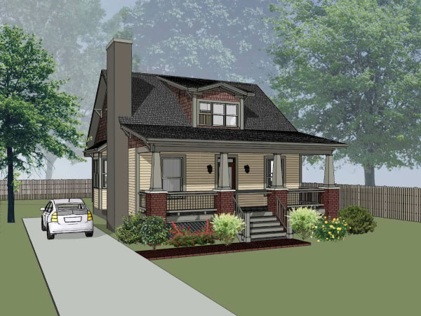 Craftsman Style Home Design 16-215