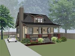 Craftsman Style Home Design Plan: 16-215