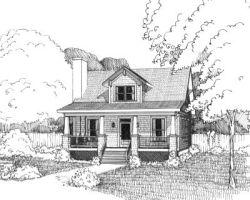 Craftsman Style Home Design Plan: 16-216