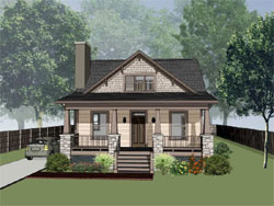 Craftsman Style Floor Plans Plan: 16-217