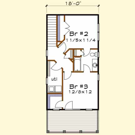 Upper/Second Floor Plan: 16-241
