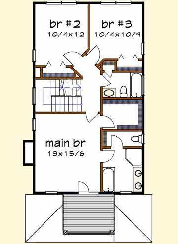 Upper/Second Floor Plan: 16-242