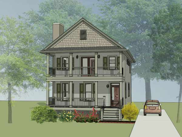 Southern Style Floor Plans Plan: 16-244
