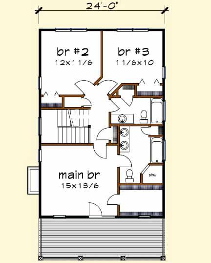 Upper/Second Floor Plan: 16-244