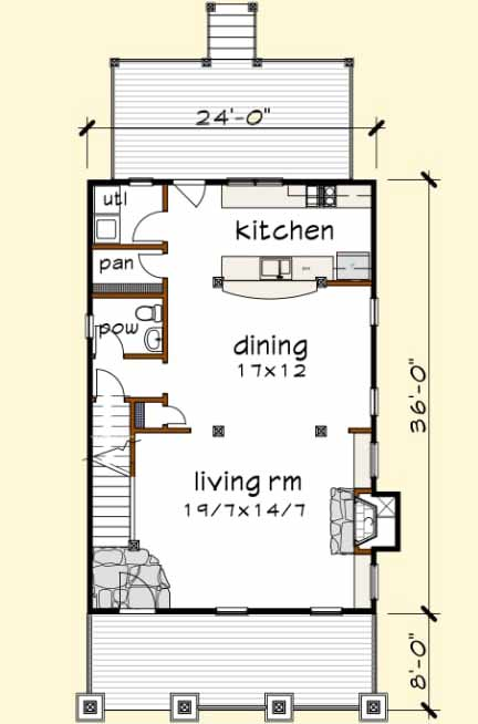 Main Floor Plan: 16-245