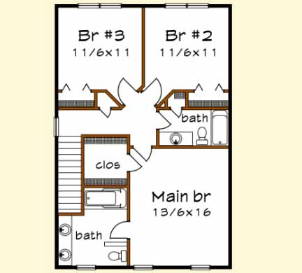 Upper/Second Floor Plan: 16-246