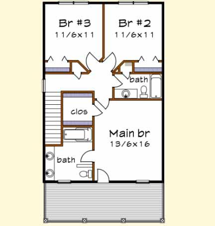 Upper/Second Floor Plan: 16-247