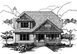 Craftsman Style Home Design Plan: 16-248