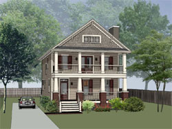 Craftsman Style Home Design Plan: 16-254