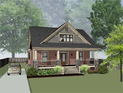 Bungalow Style House Plans Plan: 16-257