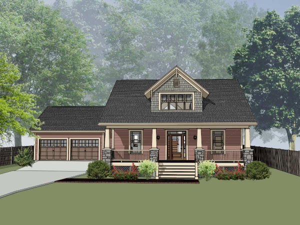 Bungalow Style Home Design Plan: 16-258