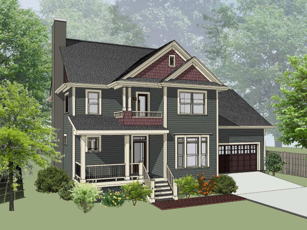 Southern Style Home Design Plan: 16-263