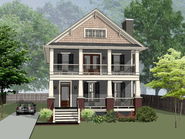 Craftsman Style Home Design 16-267