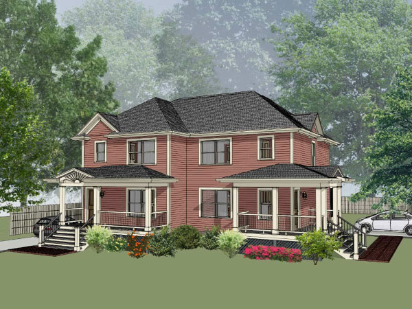 Country Style House Plans Plan: 16-273