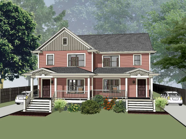 Southern Style Home Design Plan: 16-274