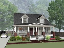 Craftsman Style Home Design Plan: 16-283