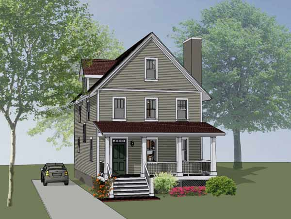 Country Style Home Design Plan: 16-296