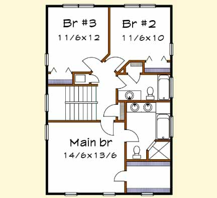 Upper/Second Floor Plan: 16-296