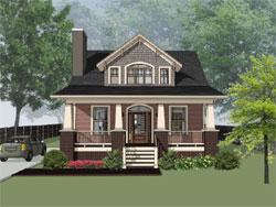 Craftsman Style Home Design Plan: 16-298