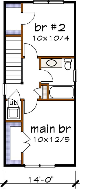 Upper/Second Floor Plan: 16-307