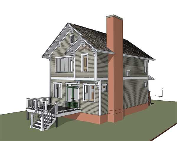 Rear Elevation Plan: 16-310