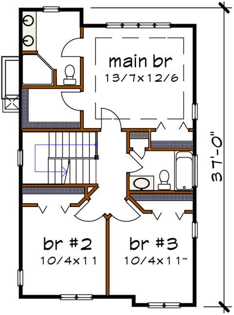 Upper/Second Floor Plan: 16-310