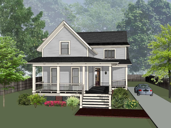 Country Style Home Design Plan: 16-311