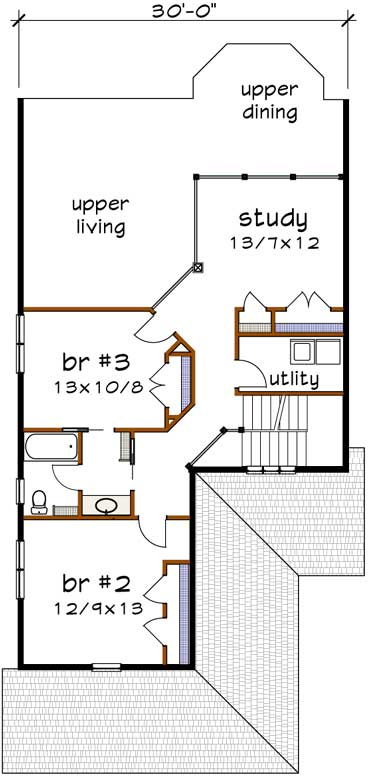 Upper/Second Floor Plan: 16-311