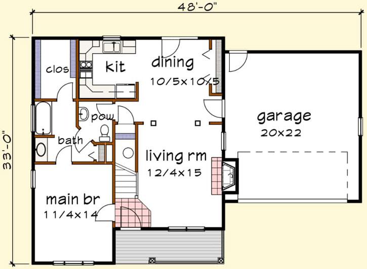 Main Floor Plan: 16-317
