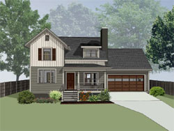 Modern-Farmhouse Style House Plans 16-317