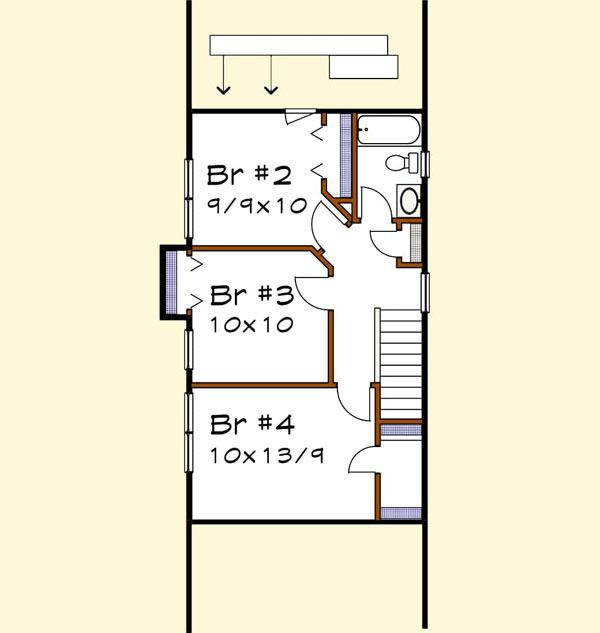 Upper/Second Floor Plan: 16-318
