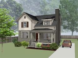 Modern-Farmhouse Style Home Design Plan: 16-319