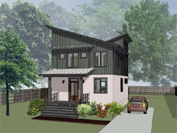 Modern Style Home Design Plan: 16-320