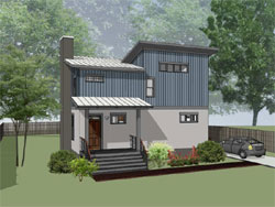 Modern Style Home Design Plan: 16-321