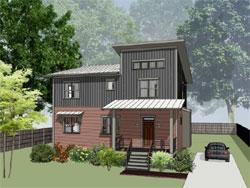Modern Style House Plans Plan: 16-323