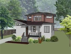 Modern Style Home Design Plan: 16-327