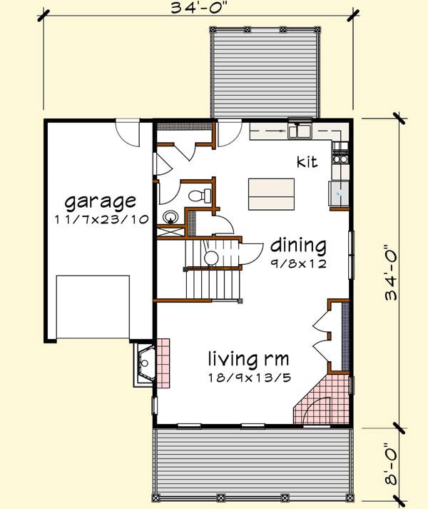 Main Floor Plan: 16-329
