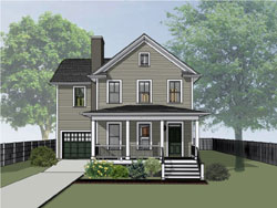 Traditional Style Home Design 16-329