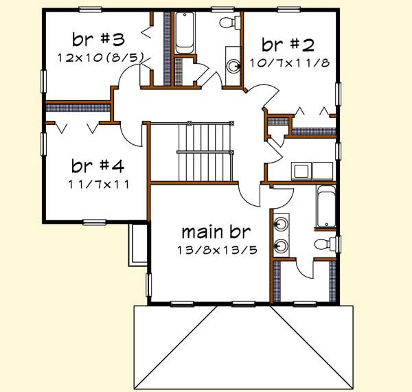 Upper/Second Floor Plan: 16-329