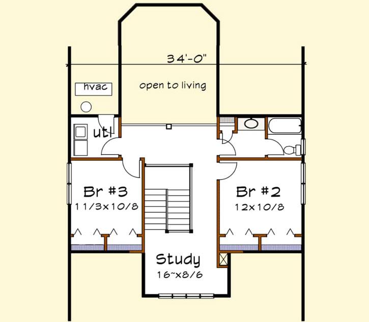Upper/Second Floor Plan: 16-331