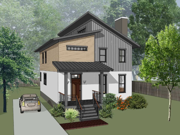 Contemporary Style Floor Plans 16-335