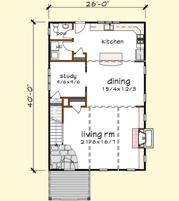 Main Floor Plan: 16-335
