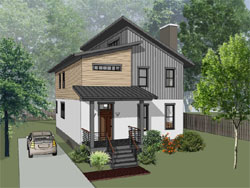 Contemporary Style House Plans 16-335