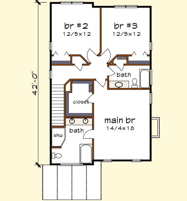 Upper/Second Floor Plan: 16-335