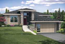 Prairie Style Home Design Plan: 17-1000