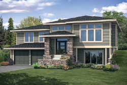 Prairie Style Floor Plans Plan: 17-1001