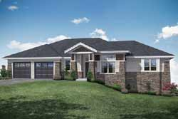Traditional Style Home Design Plan: 17-1009