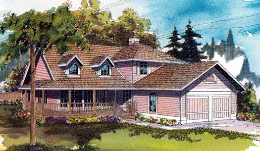 Country Style Floor Plans Plan: 17-101
