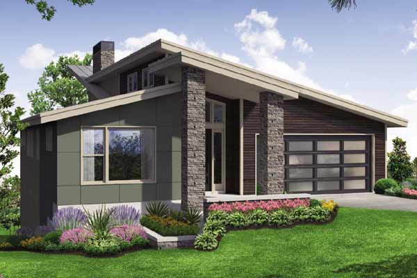 Modern Style House Plans Plan: 17-1010